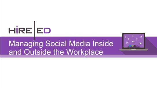 Social Media in and out of the workplace