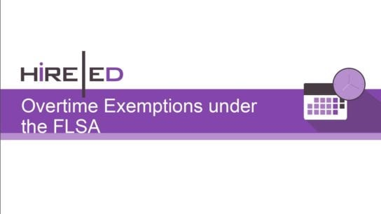 Overtime Exemptions under the FLSA