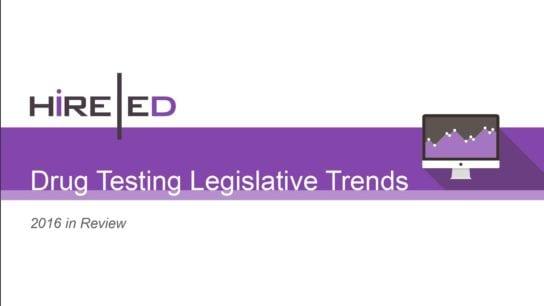 Drug Testing Legislative Trends